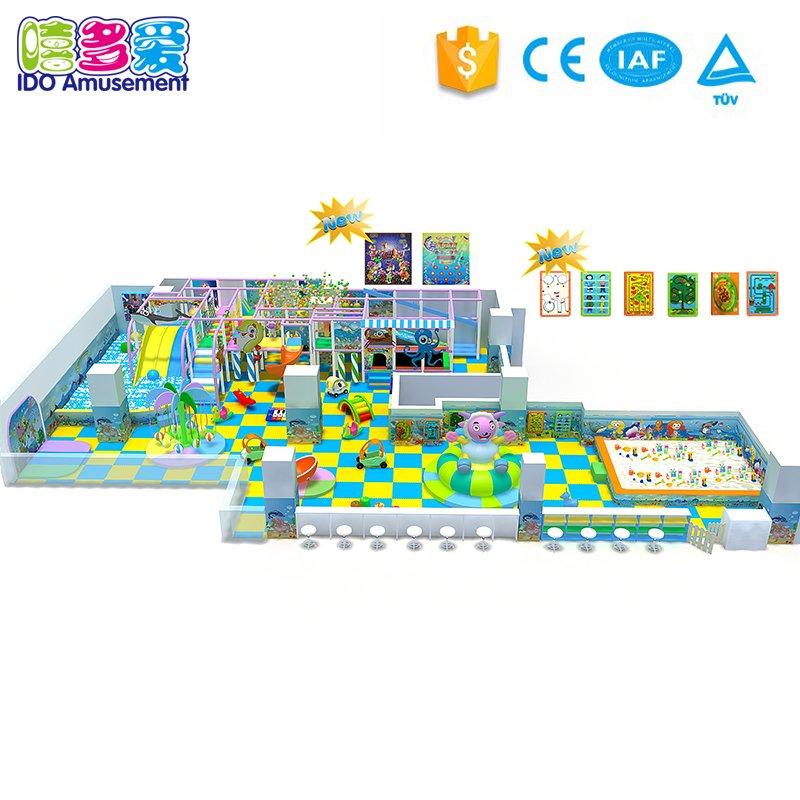 Commercial Children Amusement Naughty Castle Playground Park Equipment  201-300m²