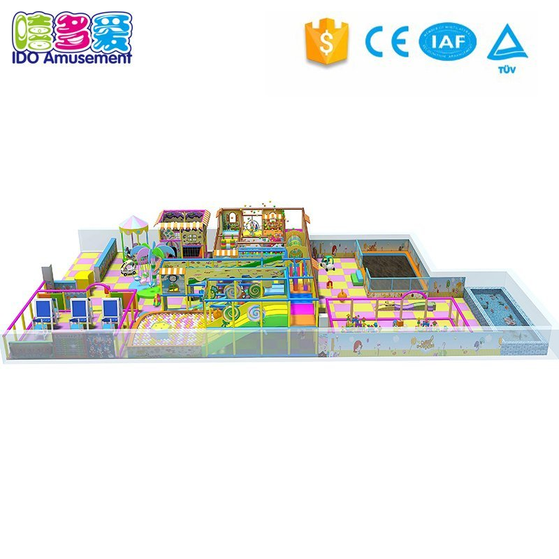 Commercial Children Amusement Naughty Castle Playground Park Equipment  201-300m²