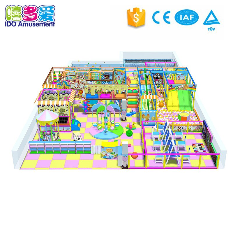 Children Indoor Playground Equipment for Jumping & Climbing 201-300m²