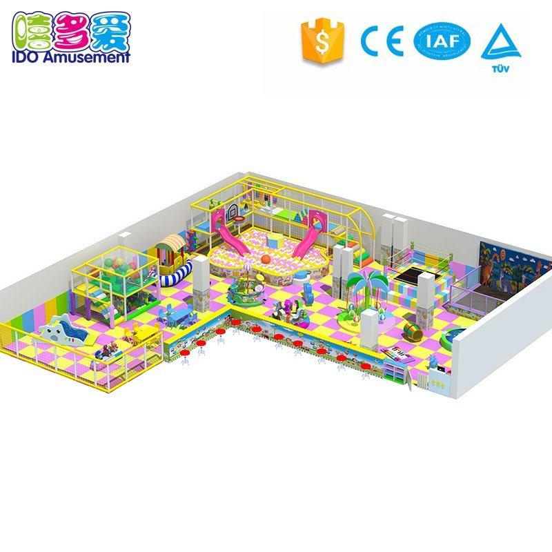 Children Indoor Playground Equipment for Jumping & Climbing 201-300m²