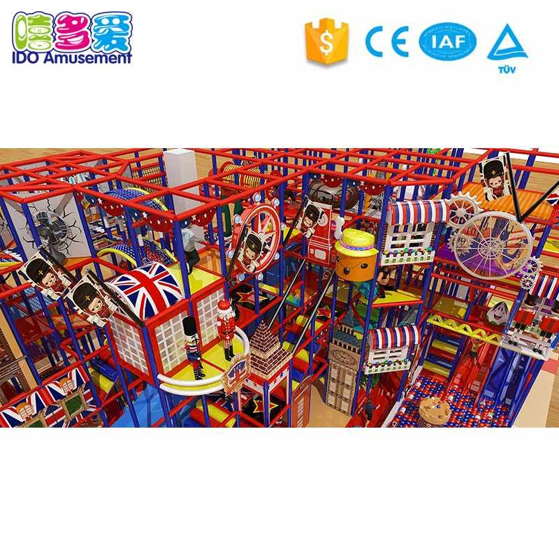 London Style Children Indoor Soft Playground 301-400m²