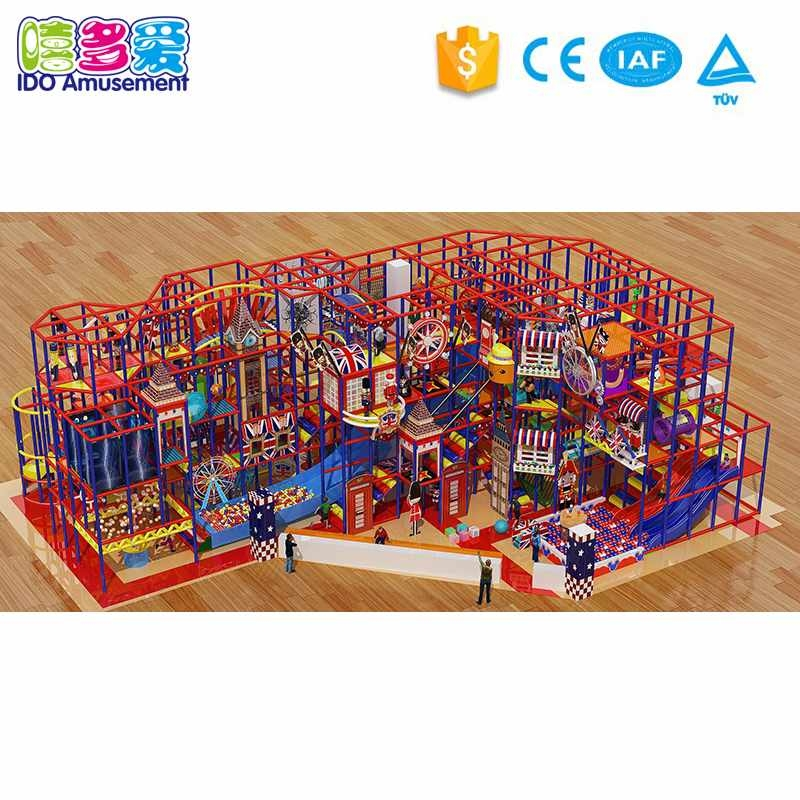 commercial soft play equipment London Style Children Indoor Soft Playground 301-400m² information