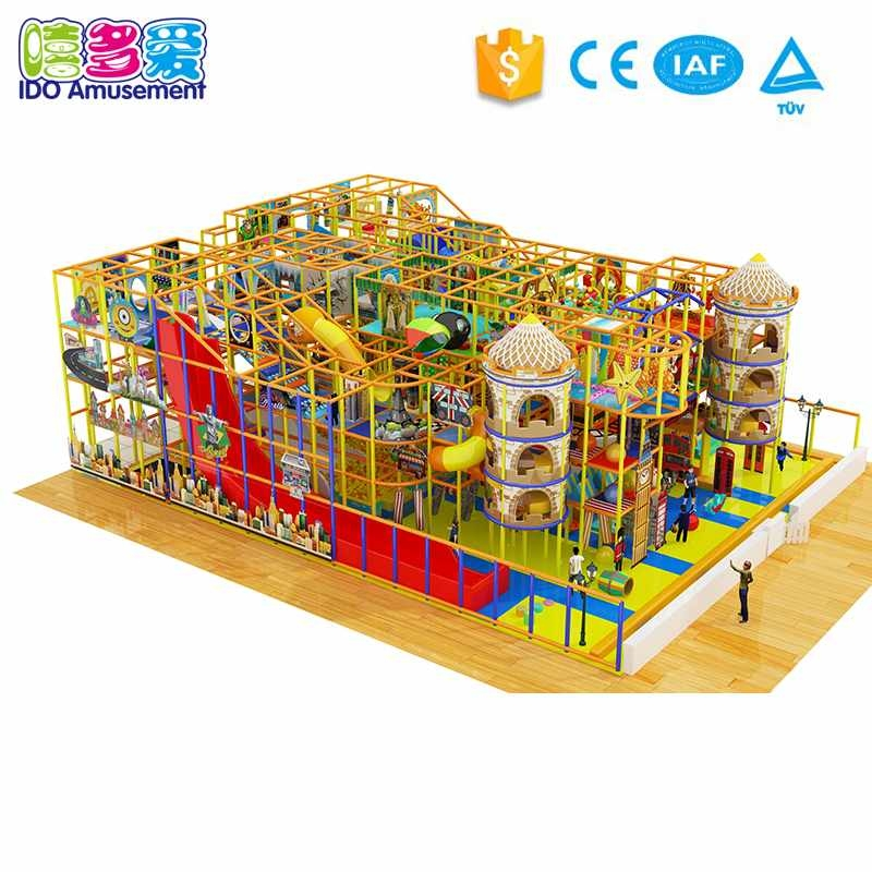 London Style Commercial Play Center Soft Indoor Playground Equipment Above 400m²