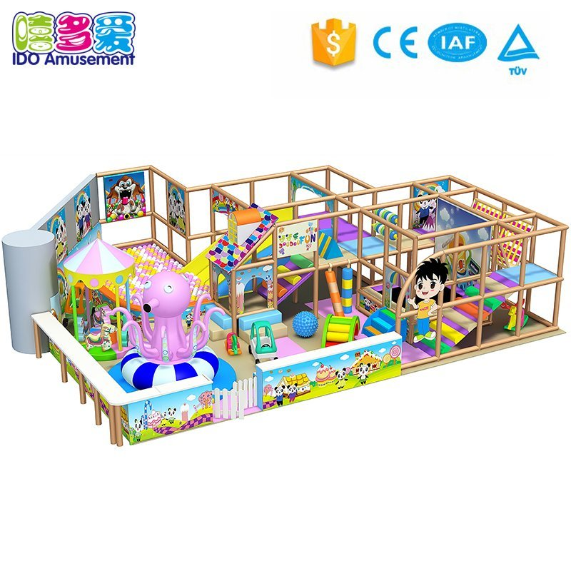 Candy Theme 89m² Indoor Playground with Slide and Ball Pool