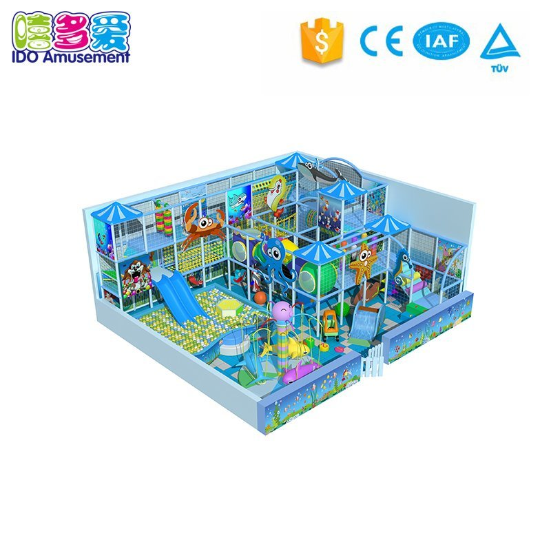 Ocean Theme Children Indoor Playground Equipment Below 100m²