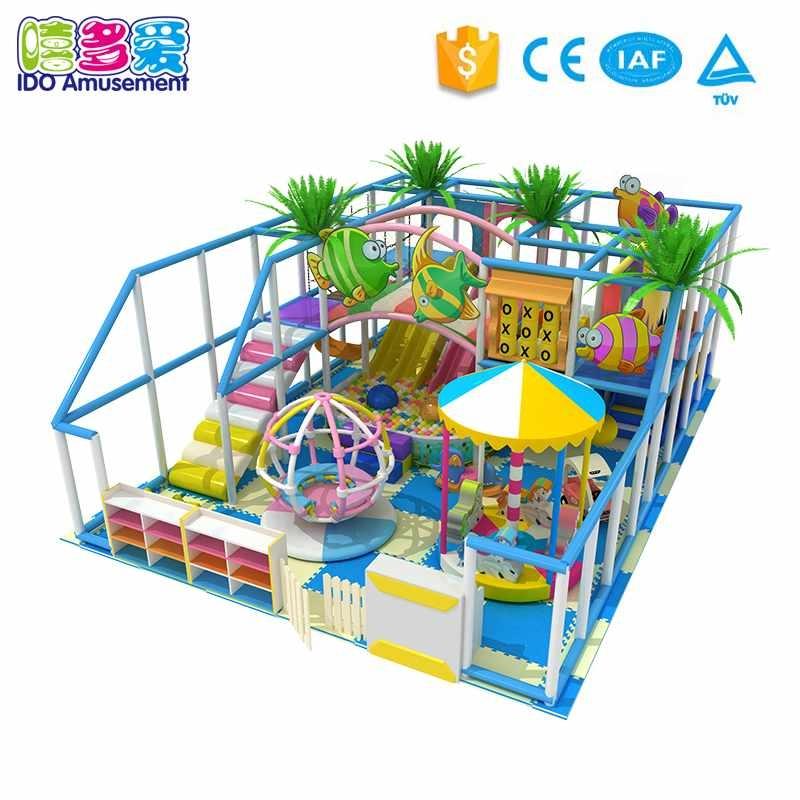Ocean Theme Children Indoor Playground Equipment Below 100m²