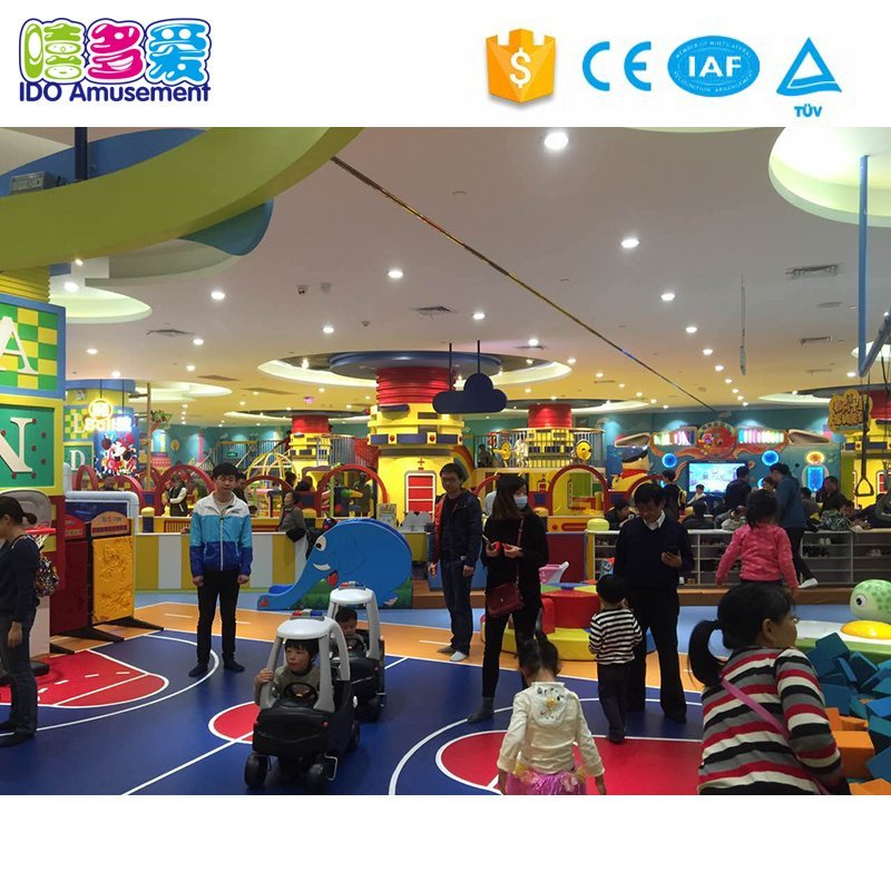 Safety Large Children Commercial Indoor Playground Equipment with Golden Ball Pool