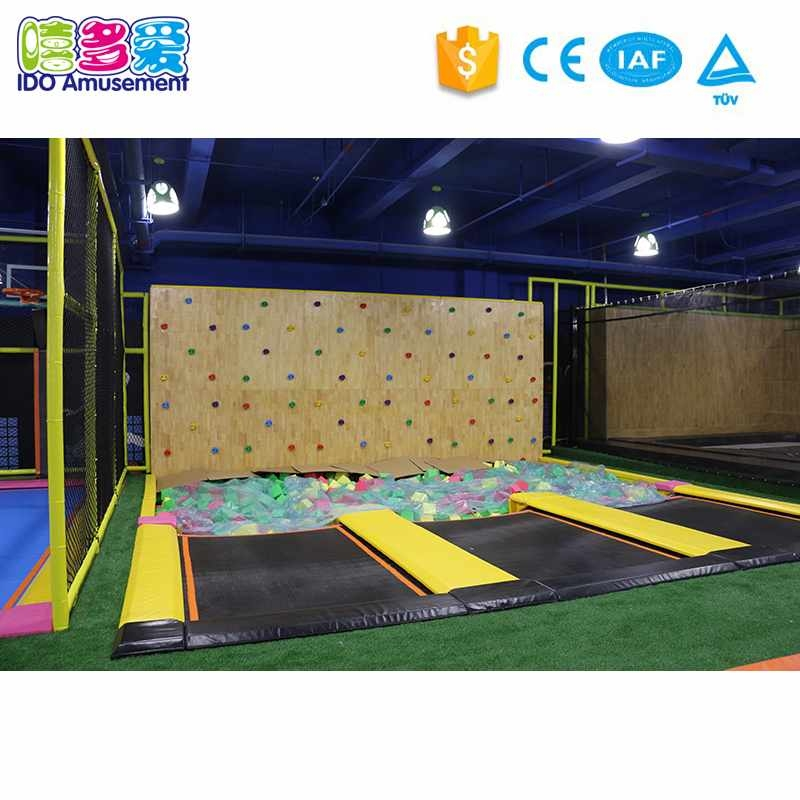Funny Theme Gymnastics Indoor Playground with Climbing Wall and Foam Pit