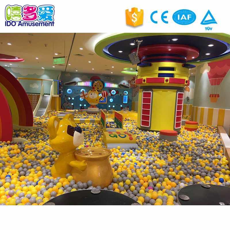Attractive Design Plastic Commercial Jungle Theme Indoor Playground