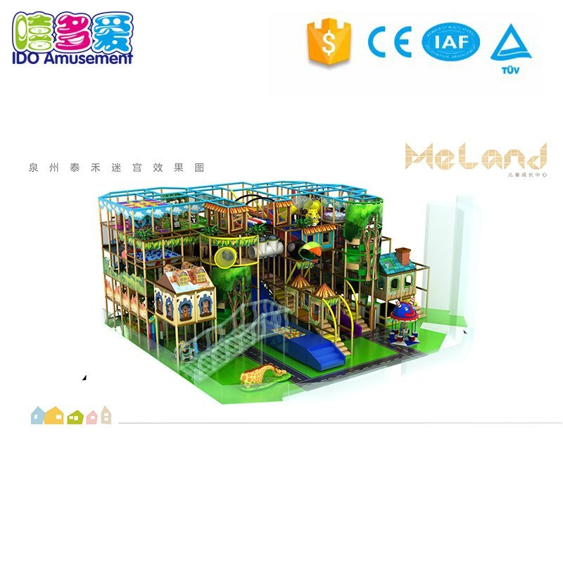 Attractive Design Plastic Commercial Jungle Theme Indoor Playground