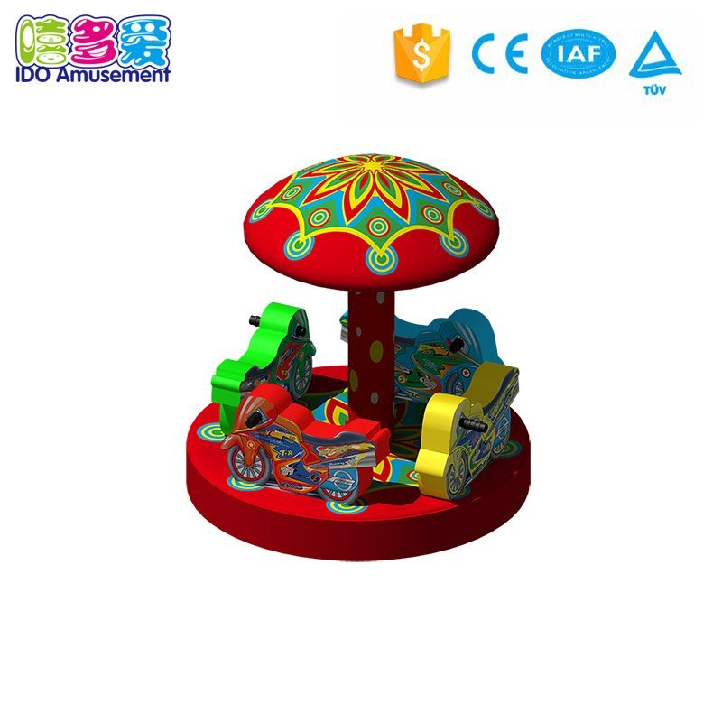 Electric Soft Play Indoor Carousel Swing with tent for children