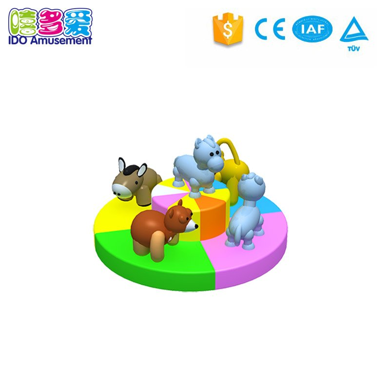 Discount! Indoor game playground electric dinosaur turntable for kids