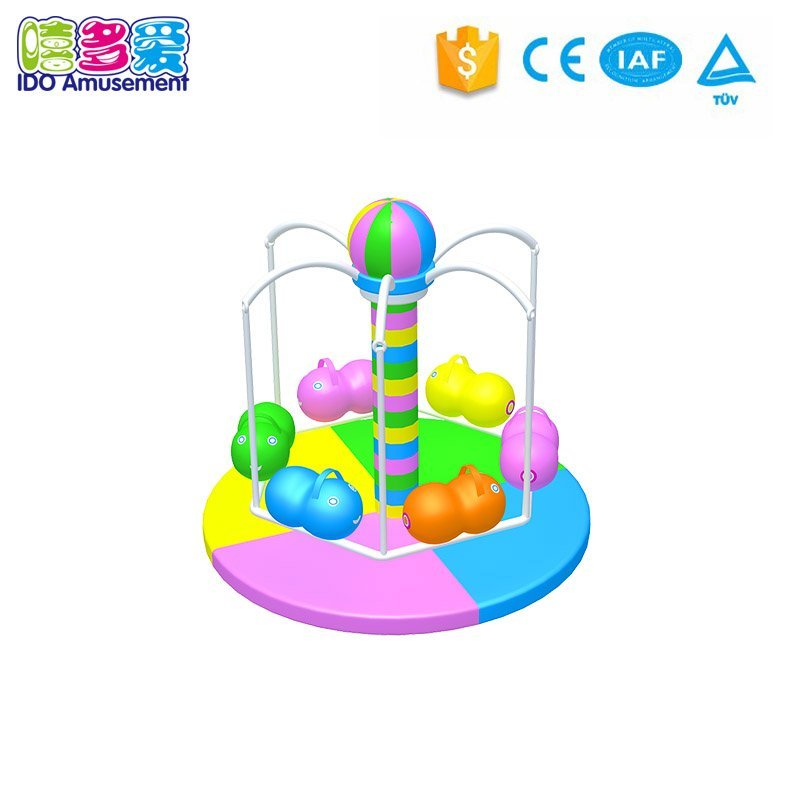 High quality indoor electric turntable playground coconut trees amusement accessories for kids