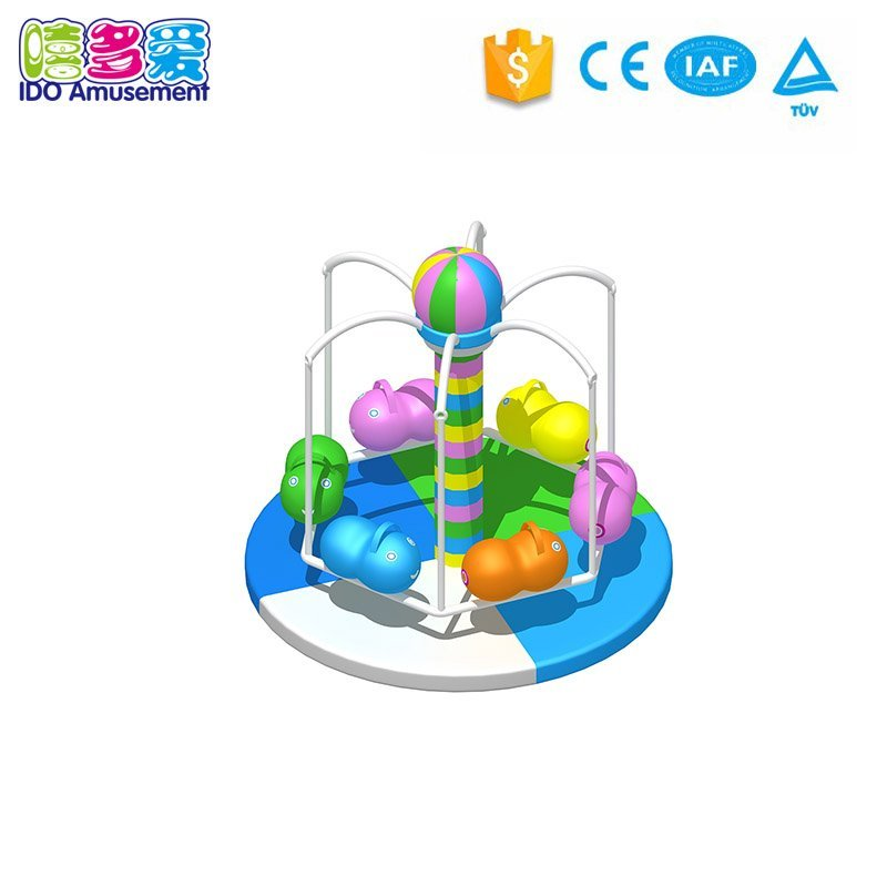 Funny electric indoor items,indoor amusement equipment Inflatable dolphin turntable