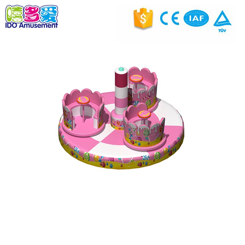 New released soft play structure center shining waterbed with led light kids playground product