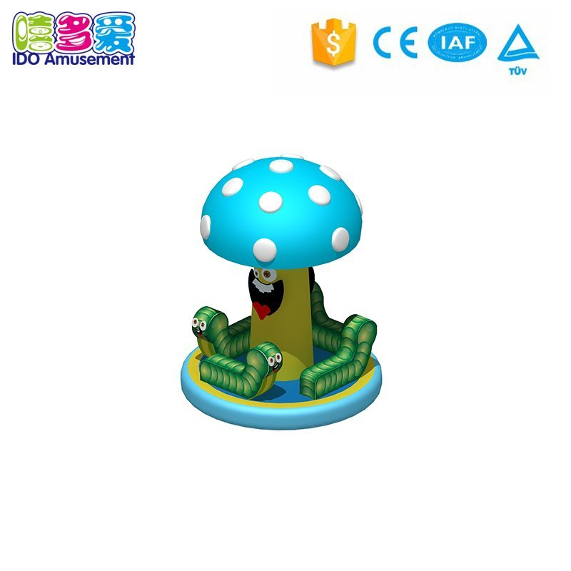 New Design Mushroom Carousel Kids Playground Inflatable Toys