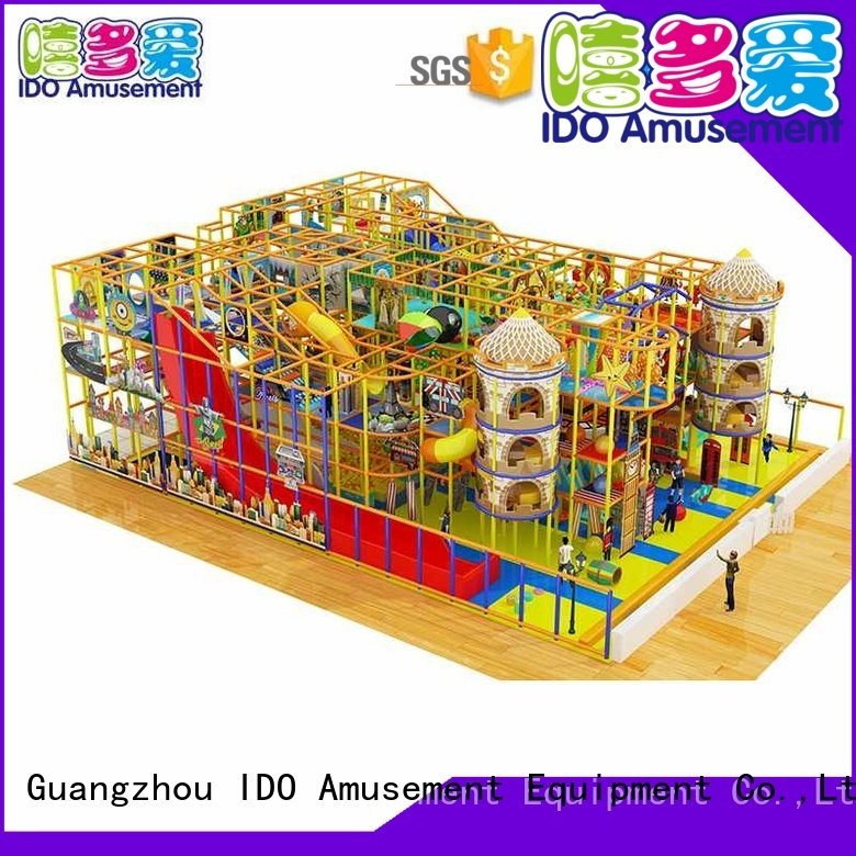 indoor gym toddler climbing commercial style IDO Brand commercial indoor playground equipment
