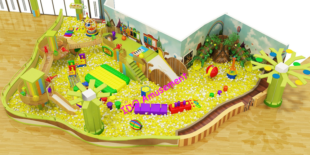 Big golden ball pool kids amusement IDO indoor playground equipment for hot sale
