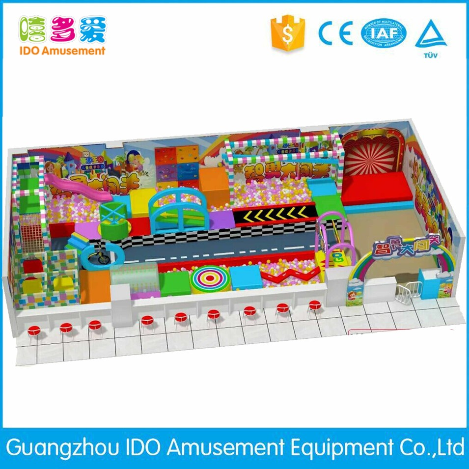 commercial colorful mcdonalds children soft play indoor playground