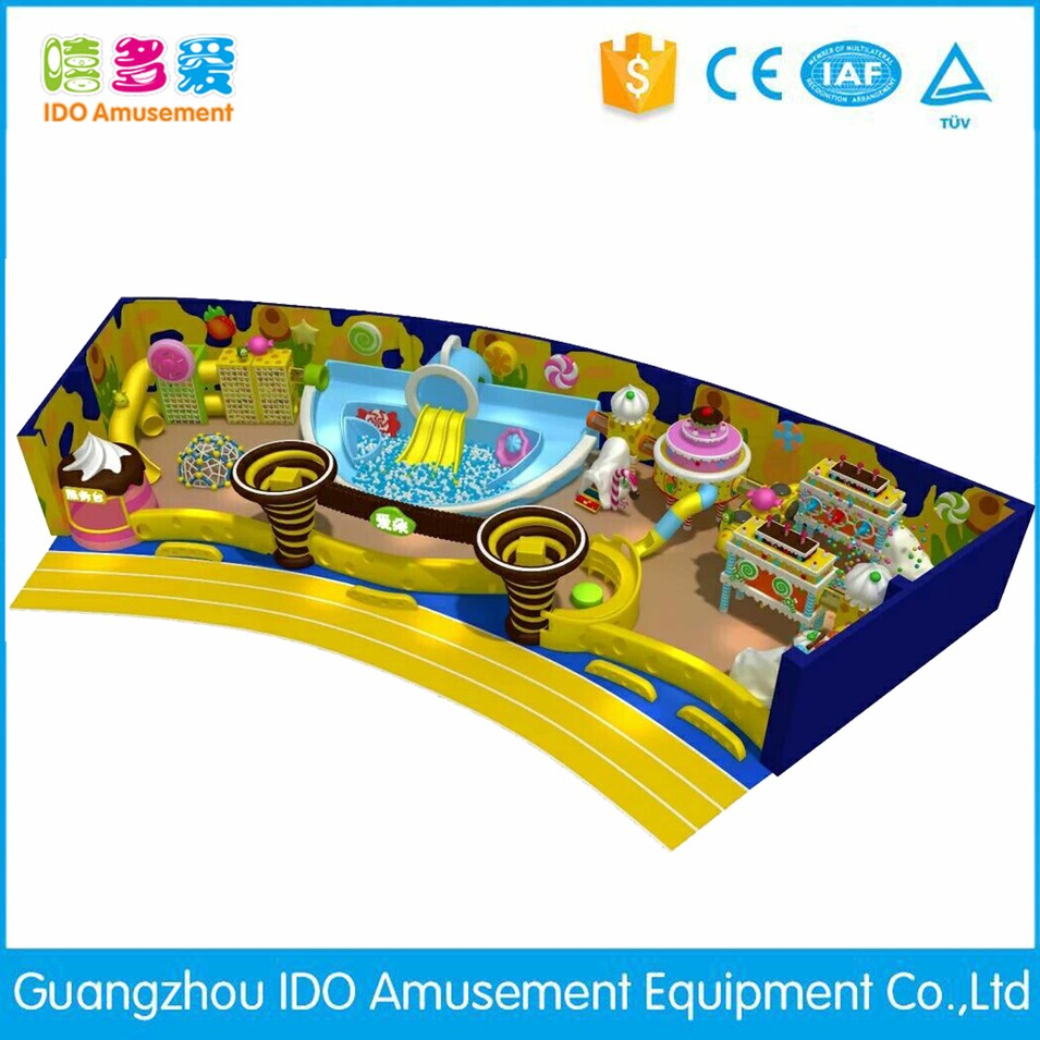 commercial colorful mcdonalds children soft play equipment indoor playground