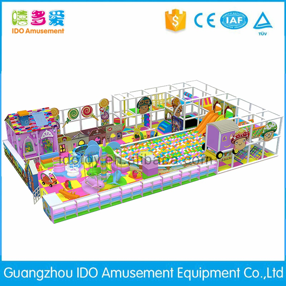 commercial colorful school kids soft play indoor playground