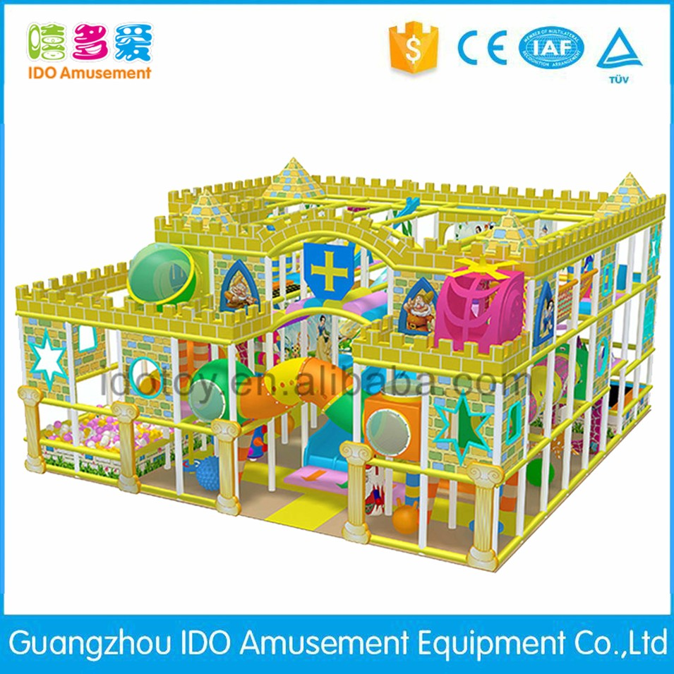 commercial colorful school kid soft play equipment indoor playground