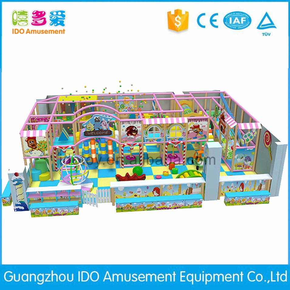 commercial colorful school kids naughty castle indoor playground