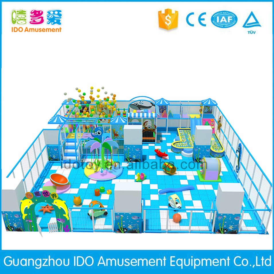 commercial colorful school children soft play equipment indoor playground