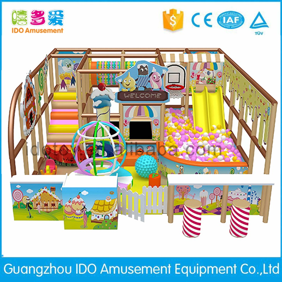 commercial plastic used kid soft play indoor playground