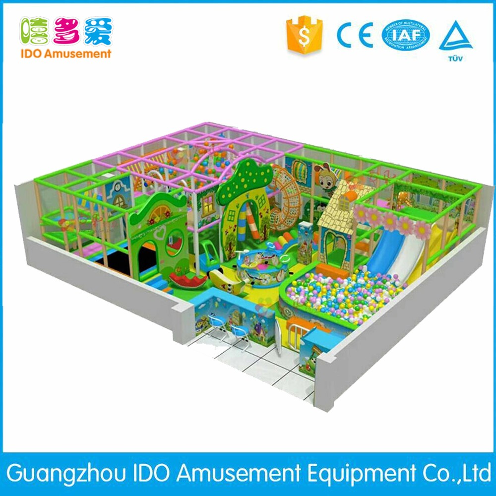 commercial plastic used kid naughty castle indoor playground