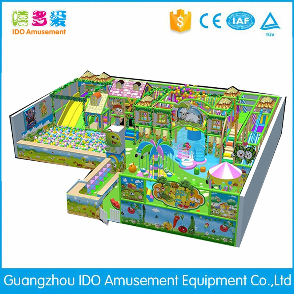 commercial plastic shopping mall kid soft play equipment indoor playground