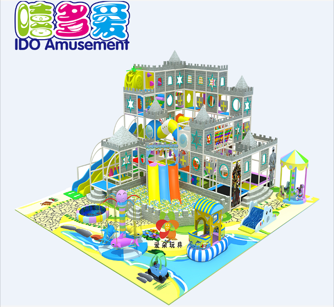 Castle theme park soft playground kids amusement entertainment equipment