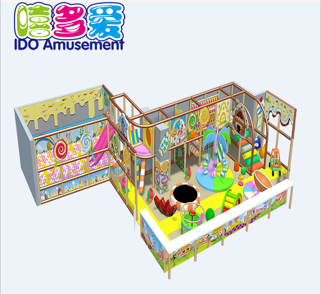 Candy theme CE Standard pvc soft play indoor playground kids amusement play
