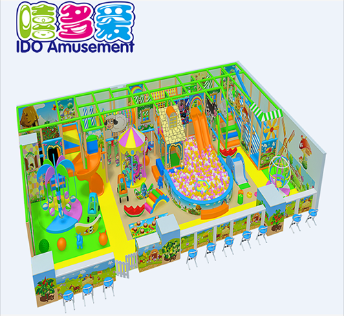 commercial safe small kids naughty castle indoor playground