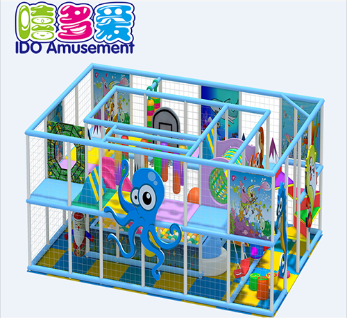 commercial plastic shopping mall toddler soft play equipment indoor playground