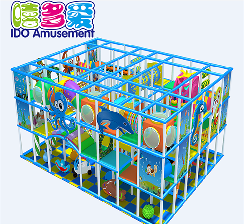commercial plastic shopping mall toddler naughty castle indoor playground