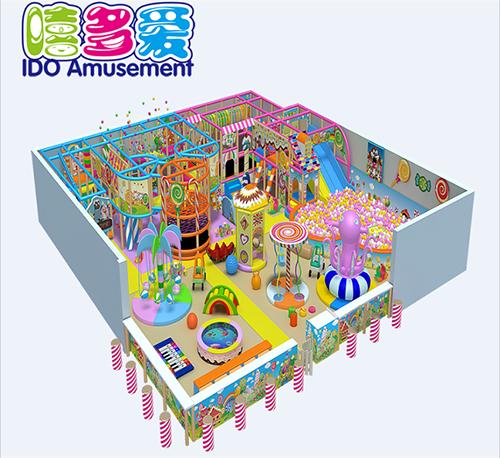 commercial plastic kindergarten kid soft play equipment indoor playground