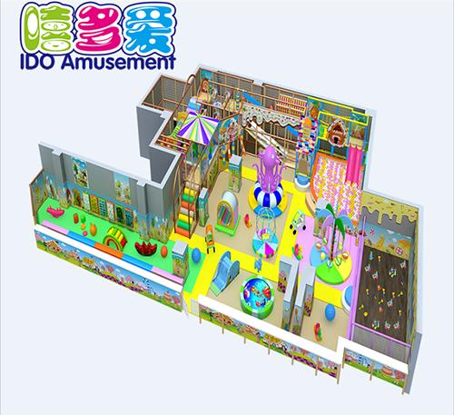commercial plastic kindergarten kid naughty castle indoor playground