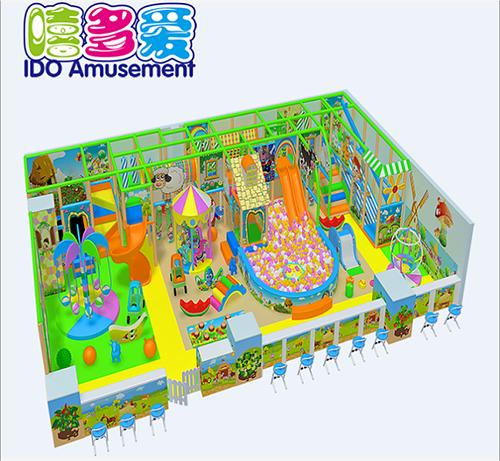 commercial plastic kindergarten kids soft play equipment indoor playground