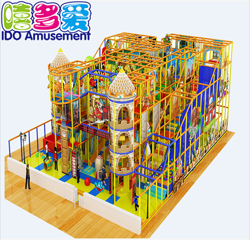 commercial plastic kindergarten toddler naughty castle indoor playground