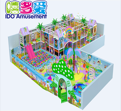 commercial colorful school kid naughty castle indoor playground