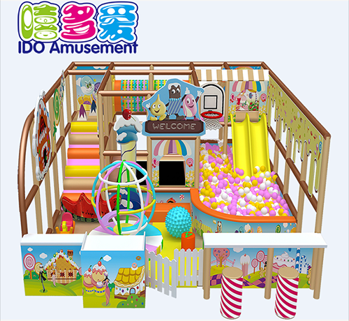 commercial colorful kindergarten toddler naughty castle indoor playground