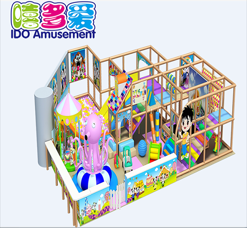 commercial colorful kindergarten toddler soft play equipment indoor playground