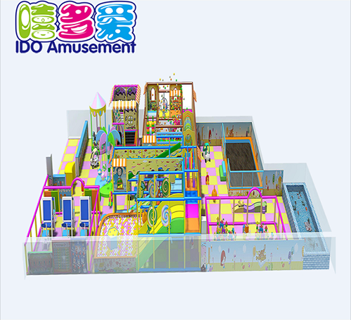 commercial colorful kindergarten kids naughty castle indoor playground