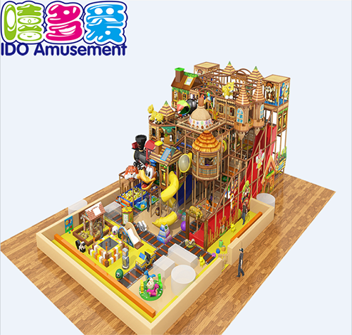 commercial colorful mcdonalds children naughty castle indoor playground